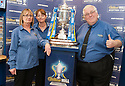 Staff at the William Hill Carronshore branch with the Scottish Cup.