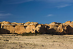 Colorful sculpted Navajo Sandstone formations in the Head of Sinbad area of the San Rafael Swell in Utah.