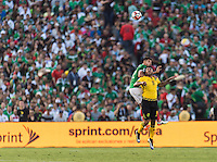 Pasadena, CA - Thursday June 09, 2016: Nestor Araujo, Giles Barnes during a Copa America Centenario Group C match between Mexico (MEX) and Jamaica (JAM) at Rose Bowl Stadium.
