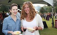 NWA Democrat-Gazette/CARIN SCHOPPMEYER Jennifer Moore (left) and Denice Holme attend Chefs in the Garden.