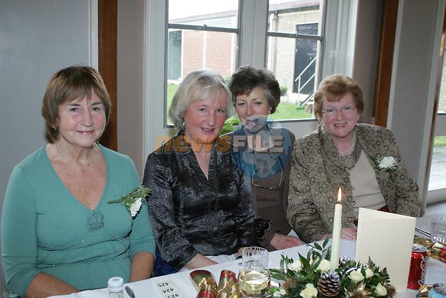 Georgina Clarke, Mary Kieran, Mary Dolan and Kathleen Doherty at the retired members christmas party..Photo: Fran Caffrey/ Newsfile.<br />