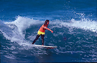 Wendy Botha (AUS)  competing in the Quit Women's Pro at Bells Beach, Victoria, Australia in 1990. Photo: joliphotos.com- Photo: joliphotos.com