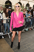 Clara Paget<br /> arrives for the TopShop UNIQUE catwalk show as part of London Fashion Week SS17, Old Spitalfields Market, London<br /> <br /> <br /> &copy;Ash Knotek  D3155  17/09/2016