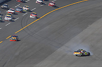 Apr 29, 2007; Talladega, AL, USA; Nascar Nextel Cup Series driver Casey Mears (25) crashes during the Aarons 499 at Talladega Superspeedway. Mandatory Credit: Mark J. Rebilas