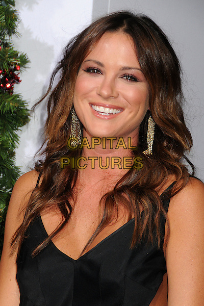 Danneel Harris.'A Very Harold & Kumar 3D Christmas' Los Angeles premiere, Grauman's Chinese Theatre, Hollywood, California, USA..2nd November 2011.headshot portrait black smiling dangling gold earrings.CAP/ADM/BP.©Byron Purvis/AdMedia/Capital Pictures.