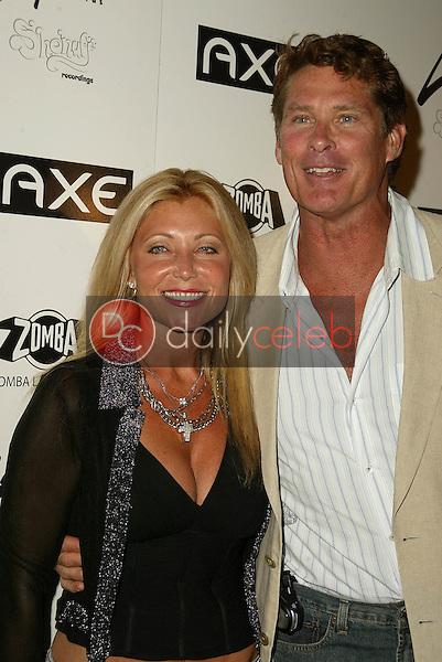 David Hasselhoff and wife<br /> at Ciara's BET Awards Pre-Party Celebration, Geisha, Hollywood, CA 06-27-05<br /> David Edwards/DailyCeleb.Com 818-249-4998