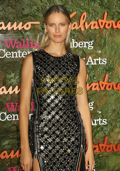 Karolina Kurkova<br /> Wallis Annenberg Center For The Performing Arts Inaugural Gala held at Wallis Annenberg Center For The Performing Arts,  Beverly Hills, California, USA, 17th October 2013.<br /> half length black gold dress zip sleeveless zips <br /> CAP/ADM/KB<br /> &copy;Kevan Brooks/AdMedia/Capital Pictures