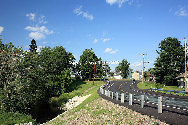 View of the new bridge over the St. George River, Searsmont, Maine, USA