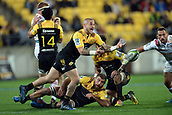 9th June 2017, Westpac Stadium, Wellington, New Zealand; Super Rugby; Hurricanes versus Chiefs;  Hurricanes captain TJ Perenara in action