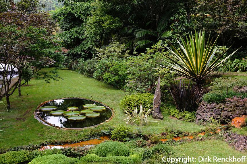 Park Terra Nostra in Furnas auf der Insel Sao Miguel, Azoren, Portugal