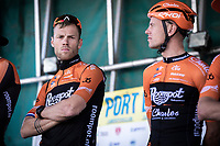 Lars Boom (NED/Roompot Charles) at the pre race team presentation<br /> <br /> Antwerp Port Epic 2019 <br /> One Day Race: Antwerp > Antwerp 187km<br /> <br /> ©kramon