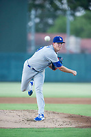 AZL Dodgers starting pitcher James Marinan (29) follows through on his delivery against the AZL Athletics on August 4, 2017 at Lew Wolff Training Complex in Mesa, Arizona. AZL Dodgers defeated the AZL Athletics 4-1. (Zachary Lucy/Four Seam Images)