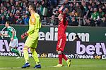 01.12.2018, Weser Stadion, Bremen, GER, 1.FBL, Werder Bremen vs FC Bayern Muenchen, <br /> <br /> DFL REGULATIONS PROHIBIT ANY USE OF PHOTOGRAPHS AS IMAGE SEQUENCES AND/OR QUASI-VIDEO.<br /> <br />  im Bild<br /> <br /> Franck Ribery (FC Bayern Muenchen #07) fordert Elfmeterv <br /> li<br /> Jiri Pavlenka (Werder Bremen #01)<br /> <br /> Foto &copy; nordphoto / Kokenge