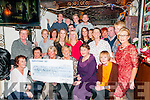 Cheque Presentation : The Strickly Come Dancers who took part in the Strickly come dancing event held at  the Listowel Arms Hotel recently presenting a cheque for €21.000.00 to Margaret McAuliffe, Chairperson of the Listowel branch of Kerry Parents & Friends in the Sheebeen Bar, Listowel on Saturday night last.