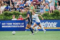 Allston, MA - Sunday July 17, 2016: Kristin Grubka, Stephanie McCaffrey during a regular season National Women's Soccer League (NWSL) match between the Boston Breakers and Sky Blue FC at Jordan Field.