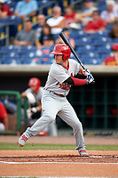 Palm Beach Cardinals left fielder Casey Turgeon (29) at bat during a game against the Clearwater Threshers on April 15, 2017 at Spectrum Field in Clearwater, Florida.  Clearwater defeated Palm Beach 2-1.  (Mike Janes/Four Seam Images)