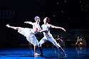 "Matthew Bourne's ""Swan Lake"" returns to Sadler's Wells Theatre, for a run until Sunday 27th January 2019. Choreographed by Matthew Bourne, with lighting design by Paule Constable and costume design by Lez Brotherston. Dancer are: Matthew Ball (The Swan), Liam Mower (The Prince), Nicole Kabera (The Queen), Katrina Lyndon (The Girlfriend), Glenn Graham (The Private Secretary), Megan Cameron (The Hungarian Princess), Freya Field (The German Princess), Zanna Cornelis (The Romanian Princess), Nicole Alphonse, Jonathan Luke Baker, Tom Broderick, Kayla Collymore, Keenan Fletcher, Bryony Harrison, Parsifal James Hurst, Jack Mitchell, Harry Ondak-Wright, Ashley-Jordan Packer, Jack William Parry, Stan West, Carrie Willis. Picture shows: Matthew Ball (The Swan), Liam Mower (The Prince)"