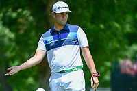 Jon Rahm (ESP) watches his putt on 2 during round 2 of the Dean &amp; Deluca Invitational, at The Colonial, Ft. Worth, Texas, USA. 5/26/2017.<br /> Picture: Golffile | Ken Murray<br /> <br /> <br /> All photo usage must carry mandatory copyright credit (&copy; Golffile | Ken Murray)
