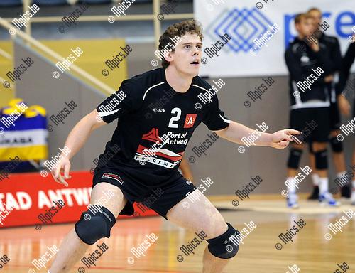 2012-09-21 / Volleybal / seizoen 2012-2013 / Topvolley Antwerpen / Robin DE BONT..Foto: Mpics.be