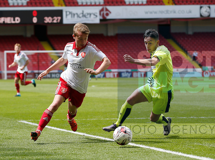 Louis Reed of Sheffield Utd in action during the PDL U21 Final at Bramall Lane Sheffield. Photo credit should read: Simon Bellis/Sportimage