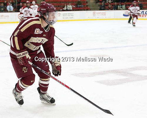 Teddy Doherty (BC - 4) - The visiting Boston College Eagles defeated the Harvard University Crimson 5-1 on Wednesday, November 20, 2013, at Bright-Landry Hockey Center in Cambridge, Massachusetts.