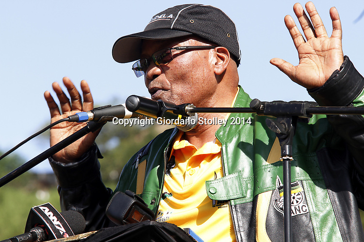 DURBAN- 9 April 2014 - President Jacob Zuma speaks at a rally in Dassenhoek in the Mariannhill area of Durban. On May 7 the country goes to the poll. Picture: Allied Picture Press/APP