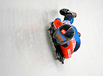 14 December 2007: Eiko Nakayama, racing for Japan, exits the last turn and heads for the finish line during her first run of the FIBT World Cup Skeleton Competition at the Olympic Sports Complex on Mount Van Hoevenberg, at Lake Placid, New York, USA. ..Mandatory Photo Credit: Ed Wolfstein Photo
