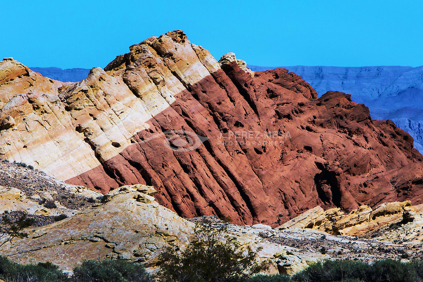 Rock formations at Valley of Fire, Mojave Desert, Nevada, USA.