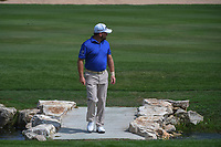 Graeme McDowell (NIR) walks across the bridge as he approaches the green on 18 during day 3 of the Valero Texas Open, at the TPC San Antonio Oaks Course, San Antonio, Texas, USA. 4/6/2019.<br /> Picture: Golffile | Ken Murray<br /> <br /> <br /> All photo usage must carry mandatory copyright credit (&copy; Golffile | Ken Murray)