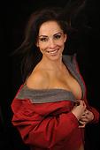 Hot sexy young attractive seductive Hispanic woman stock photo