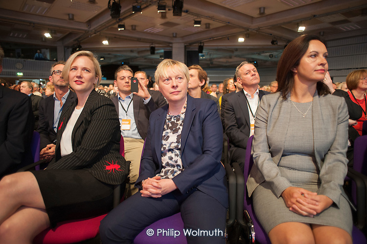 Stella Creasey Angela Eagle Caroline Flint at Labour Party deputy leadership election Westminster London