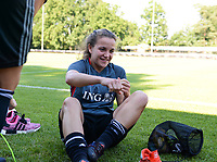 20170717 - RIJEN , NETHERLANDS :  Belgian Davina Philtjens pictured during a training session of the Belgian national women's soccer team Red Flames on the pitch of Rijen , on Tuesday 18 July 2017 in Rijen . The Red Flames are at the Women's European Championship 2017 in the Netherlands. PHOTO SPORTPIX.BE | DAVID CATRY