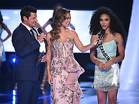 2019 MISS USA: Nick Lachey and Vanessa Minnillo interview Miss North Carolina, Chelsie Kryst at the 2019 MISS USA airing Thursday, May 2 (8:00-10:00 PM ET live/PT tape-delayed) on FOX. (Photo by Frank Micelotta/FOX/PictureGroup)
