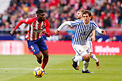 2nd December 2017, Wanda Metropolitano, Madrid, Spain; La Liga football, Atletico Madrid versus Real Sociedad; Thomas Teye Partey of Atletico Madrid and Alvaro Odriozola (19) of Real Sociedad