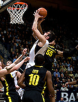 Robert Thurman of California shoots the ball during the game against Oregon at Haas Pavilion in Berkeley, California on February 16th, 2012.  California defeated Oregon, 86-83.
