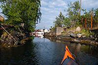 Norway, Stavanger, Hundvåg. Kayaking.