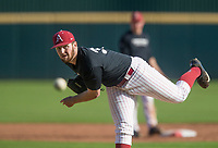 Hawgs Illustrated/BEN GOFF <br /> Matt Cronin, sohomore left hand pitcher, Wednesday, Oct. 11, 2017, during the Arkansas baseball Fall World Series scrimmage at Baum Stadium in Fayetteville.
