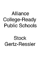 Alliance Stock Gertz-Ressler