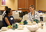 Kavya Aajani and Julie Suhr share a laugh.