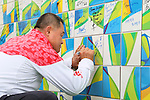 Yasuhiro Yamashita (JPN), <br /> AUGUST 2, 2016 : <br /> Welcome ceremony for the Japanese delegation <br /> during the Rio 2016 Olympic Games <br /> at Athlete's Village, in Rio de Janeiro, Brazil. <br /> (Photo by Yohei Osada/AFLO SPORT)