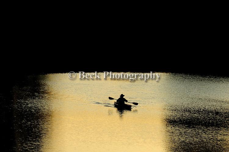 Last light on Lake Jean