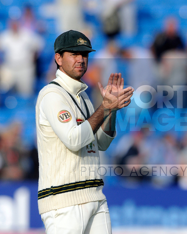Australian captain Ricky Ponting applauds his team's efforts after another day of domination over England.