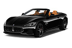 2019 Maserati Gran-Cabrio Sport 2 Door Convertible Angular Front stock photos of front three quarter view