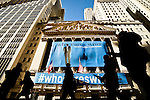 People walk in front of the New York Stock Exchange where Goldman Sachs Group Management discusses Q4 2011 results in New York, United States. 13/01/2012.  Photo by Eduardo Munoz Alvarez / VIEWpress.
