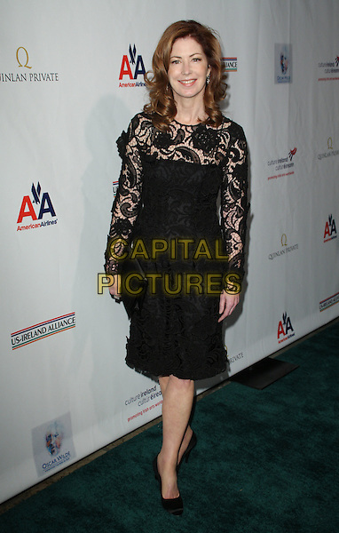 "DANA DELANY.""Oscar Wilde"" US-Ireland Alliance held at The Ebell Club, Los Angeles, California, USA..February 19th, 2009.full length delaney black lace dress clutch bag.CAP/ADM/KB.©Kevan Brooks/AdMedia/Capital Pictures."