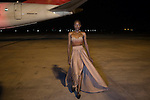 MAPUTO, MOZAMBIQUE – DECEMBER 12: A model waits backstage before a show at Mozambique fashion week held on the tarmac of the airport, on December 12, 2015 in Maputo, Mozambique. The yearly event brings designers from Southern Africa and Portugal. (Photo by: Per-Anders Pettersson)
