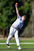 A Medbury bowler during the National Primary School Cup Final between Medbury School v Huntley School at the Bert Sutcliffe Oval, Lincoln University, Christchurch, New Zealand. Wednesday 22 November 2017. Photo: John Davidson/www.bwmedia.co.nz