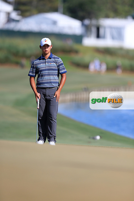 Si Woo Kim (KOR) during round 3 of the Players, TPC Sawgrass, Championship Way, Ponte Vedra Beach, FL 32082, USA. 14/05/2016.<br /> Picture: Golffile | Fran Caffrey<br /> <br /> <br /> All photo usage must carry mandatory copyright credit (&copy; Golffile | Fran Caffrey)