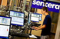 "In its Charlotte, NC, high-tech manufacturing operations, Sencera International Corp., manufactures thin film silicon-based photovoltaic modules (thin-film silicon solar cells and solar panels). The privately held company produces thin film photovoltaic modules and uses its proprietary ""Viper Plasma Enhanced Chemical Vapor Deposition Platform"" to create amorphous silicon thin film modules for solar technologies. Sencera's primary business development offices and operations are based in Charlotte, North Carolina. California-based Quercus Trust is the lead investor in the company."