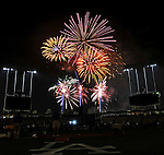 22 July 2011: Friday night fireworks entertain the fans after a game between the Washington Nationals and the Los Angeles Dodgers at Dodger Stadium in Los Angeles, California. The Nationals defeated the Dodgers 7-2 in their first meeting of the 2011 season. Mandatory Credit: Ed Wolfstein Photo